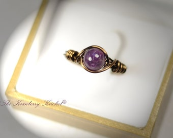 Amethyst Bronze Ring for Men,Boho Ring, Bohemian Ring, Reiki Jewelry , Custom Sized