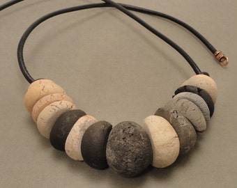 Chunky Ceramic Bead Necklace