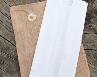 10 Sacchetti di carta - 10 White Paper Bags