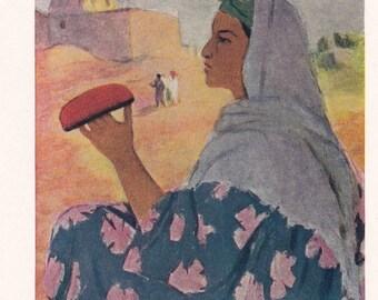 """N. Kashina """"Skullcap"""" Postcard -- 1962, Soviet Artist Publ."""