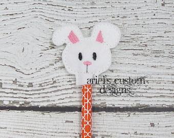 Bunny Head Easter Pencil Topper
