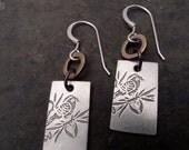 Mali Earrings ~ Small ~ Bird/ Cherry Blossom