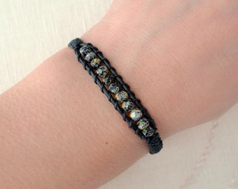 Beaded Macrame Wrap Bracelet