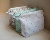 Fabric cosmetic bag with umbrella print design