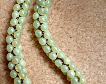"REDUCED Beaded Kumihimo mushroom bead necklace, bead necklace, cluster necklace, mushroom bead necklace, ""Lemon Crush"" statement necklace"