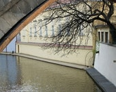 Prague photograph, Prague Venice, Certovka, Charles bridge, Vltava river meanders, Prague spring