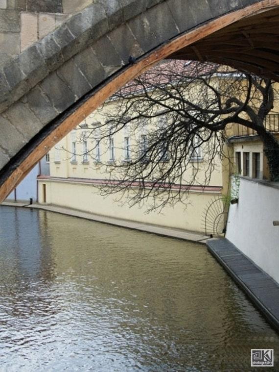 Prague photography, Prague Venice, Certovka, Charles Bridge, Vltava river, Prague print, Fine art prints, Office décor,