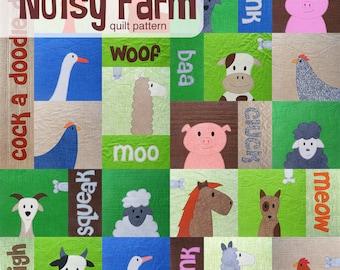 Noisy Farm Quilt Pattern - digital PDF pattern