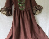 On Sale - Girl's Highland, Hobbit, Renaissance Dress With Hand-Knitted Capelet, Size 6, Ready To Ship Now