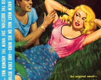 Naughty Blonde - 10x14 Giclée Canvas Print of a Vintage Pulp Paperback Cover