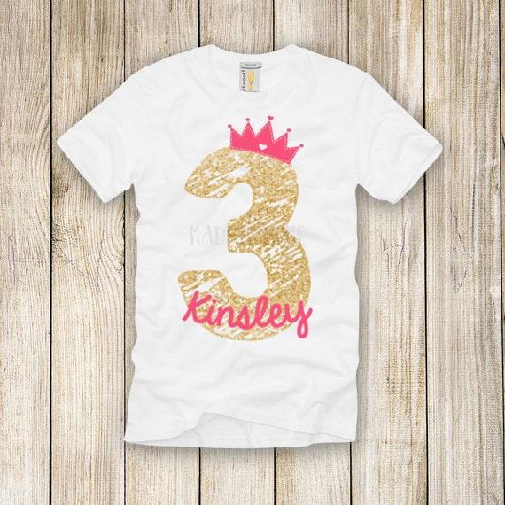Customized Glitter Birthday DIY Iron On T Shirt Transfer You
