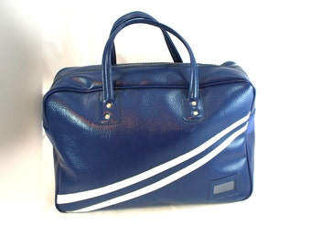Vintage Blue & White Sport Bag Travel Tote - Free Shipping US