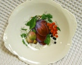 French Limoges Pin Dish with plum and currant design