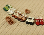 Miss yo handmade Vintage T-straps shoes for YoSD 1/6 BJD - doll doll shoes - 6 colors in