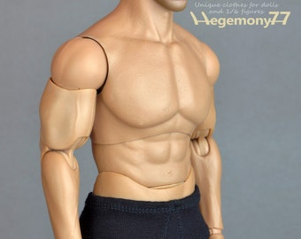 1/6th scale XXL black men's underwear for: Hot Toys TTM 20 size bigger action figures and male fashion dolls
