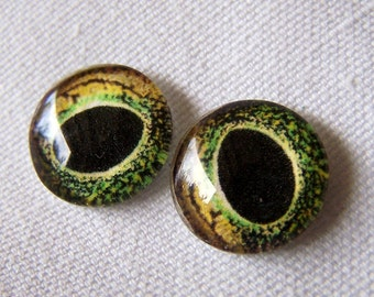 Glass cabochon eyes reptile glass eyes for jewelry or sculpture