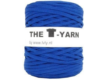 The t-shirt yarn 120-135 yards, 100% recycled cotton tricot yarn, blue 135