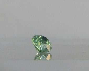 Lapidary Supply Jewelry Supply 2.45 carat Green Zircon Loose Gemstone Brilliant Cut Zircon Gem Round 7.53 mm DanPickedMinerals