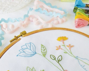Embroidery Pattern, PDF Pattern, Instant Download - Spring Time