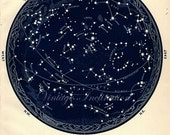 1934 Vintage Star maps 1 & 2 October November December Southern Astronomy zodiac stars chart maps constellation