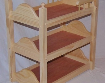 Triple Doll Bunk Bed Unfinished Fits American Girl Doll and 18 inch dolls Handmade