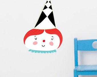Candy Clown Removable Wall Sticker | LSB0172WHT-MMS