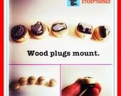 Wedding Menu Stamps Wood Plug Mounted Select your number in drop down menu W001