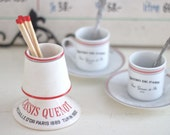 Vintage French Cafe Match Holder Striker in Porcelain (SALE - WAS 109.00) - Free Domestic Shipping