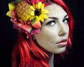 Quirky Rockabilly Pineapple Carmen Miranda Summer Cocktail Hat Fascinator