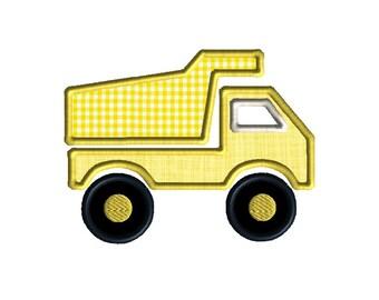 Dump Truck Applique Machine Embroidery Design-INSTANT DOWNLOAD