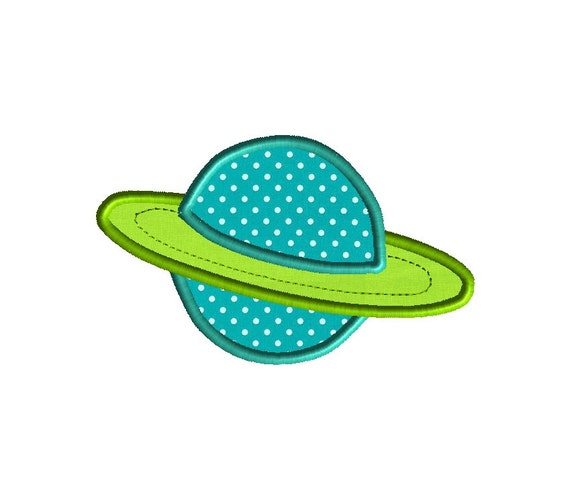 Planet Applique Machine Embroidery Design-INSTANT DOWNLOAD
