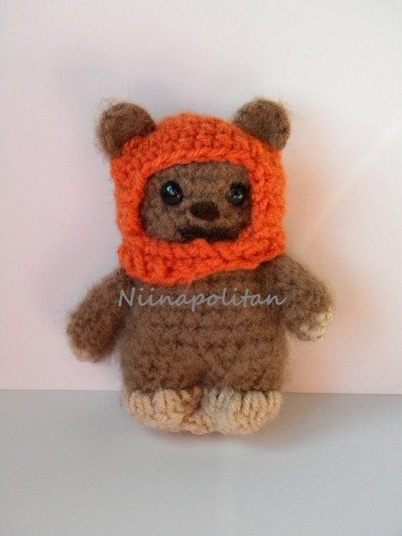 Ewok Crochet Amigurumi : Star Wars Inspired Amigurumi Doll Wicket the Ewok MADE TO
