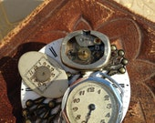 Antique Pocket Watch part brooch