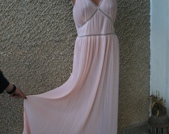 Vintage Valisère Maxi Accordion Pleated Nightgown size M-L