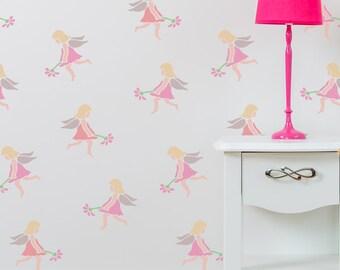 Fairy Stencil from The Stencil Studio. Reusable home decor & DIY stencils, simple to use. 10076
