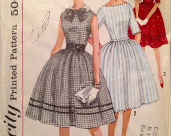 "Vintage 1960s Simplicity Misses' Juniors' Dress Pattern 3528 Size 14 (34"" Bust)"