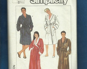 Vintage 1980's Simplicity 7659 Classic Shawl Collar Robes Size Medium 14/16