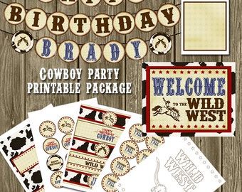 Cowboy Birthday Printables Package