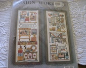 Country Craft Fair Counted Cross Stitch Picture Sampler  Kit vintage  New
