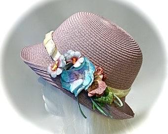 Lavender 1920's Cloche Gatsby Hats Formal Hats CH-120
