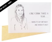 Custom Illustrated Cards - Personalized Portrait Cards - Custom Sketch Greeting Card
