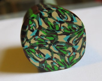 Unbaked  polymer clay cane, Camouflage  polymer clay cane, Jungle green, Camouflage. #pcJg31