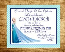 Customized/ Frozen/ Elsa/ Birthday Invitation