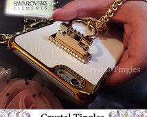 "Brazalete Stylish Pearl Gold Tassel Chain Diamond Ring Wristlet Wrist Lanyard Design Hook Stand Jewelry Cover Charm Case For iPhone 6s 4.7"""