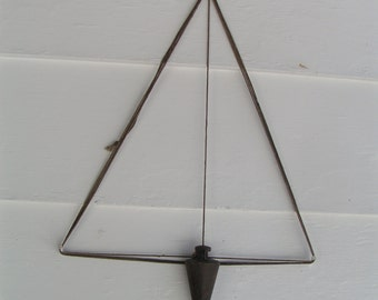 Antique Industrial  STEEL CONE PLUM  -   Weighs over a pound - repurpose -