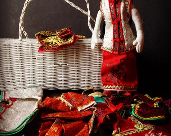 Oriental Cloth Doll and Wardrobe Set