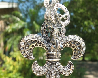 NOLA DREAMS Tree Jewelry Christmas Ornament Fleur de Lis New Orleans