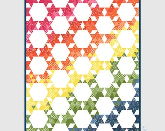 Modern Hex - Quilt Pattern - Prairie Grass Patterns - no. 130