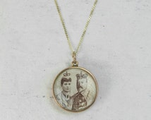 FLASH SALE - The Edwardian Coronation Locket - 9ct Rose Gold Charm Necklace