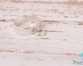 Sterling Silver Ring of O, BDSM Ring, Story of O Ring